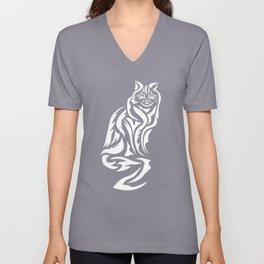 Tribal Cat Design (Darks) Unisex V-Neck