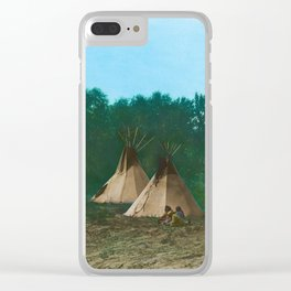 Assiniboine Camp - American Indian Tipis Clear iPhone Case