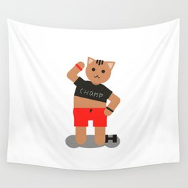 Cat champ doing sport Wall Tapestry