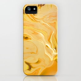 Golden Marble Texture iPhone Case