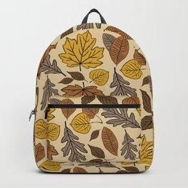 Falling Leaves Pattern Backpack