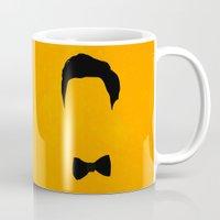 darren criss Mugs featuring Darren Criss Hair & Bowtie by byebyesally