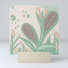 Pond Still Life - 2d illustration Pastel Neutral Calm  Mini Art Print