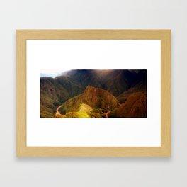 THE MACHU PICCHU VALLEY- PANORAMIC VIEW Framed Art Print
