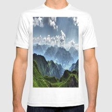 Mountain Peaks in Austria Mens Fitted Tee White MEDIUM
