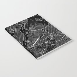 New York City Black Map Notebook