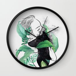 Rain forest. Wall Clock