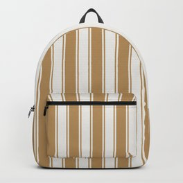 Cream and brown nautical geometric vertical lines pattern for home decoration Backpack