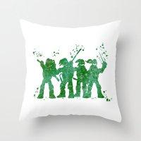 teenage mutant ninja turtles Throw Pillows featuring Teenage Mutant Ninja Turtles by Carma Zoe