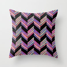 Lilli Chevron {dark} Throw Pillow