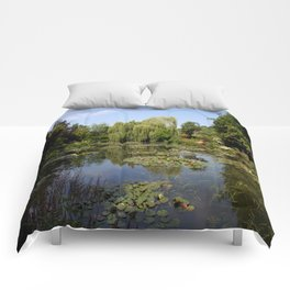 Monets Waterlily Pond Comforters