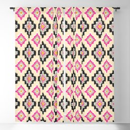 Boho Ikat Diamonds Blackout Curtain
