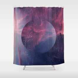 Explore the Space Shower Curtain