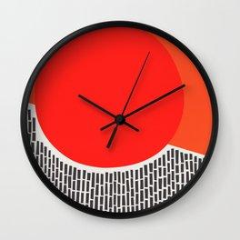 Sunshine And Rain Abstract Wall Clock
