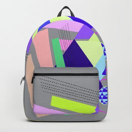 lines and triangles Backpack