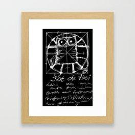 Kot da Vinci (black) Framed Art Print