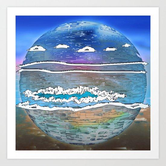 Embrace the World - Archipelago 20-01-17 Art Print