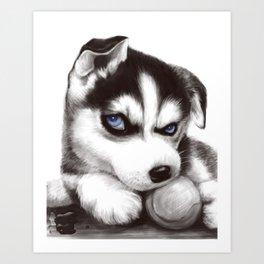 CUTE---HUSKY Art Print