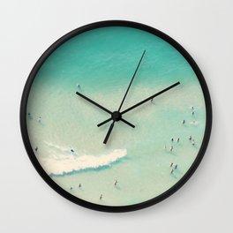 beach summer waves Wall Clock
