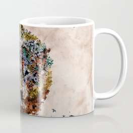 floral animals wolf Coffee Mug