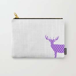 Stag - King of the Forest Geometric Digital Print Purple Carry-All Pouch