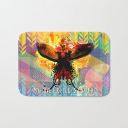 My Love For You Is On Fire Bath Mat