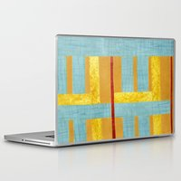 50s Laptop & iPad Skins featuring 50s block colour by Pagan Sovereign Studios