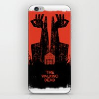walking dead iPhone & iPod Skins featuring The Walking Dead. by David