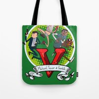 gta Tote Bags featuring GTA TIME!! by Philtomato