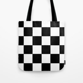 Checkerboard (LF) - (Collection Black & White) Tote Bag