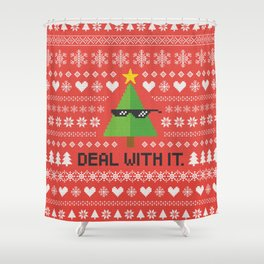 Deal with It. Shower Curtain
