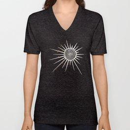 Sunrays and Swirls Inktober :: I Feel An Urgency Unisex V-Neck