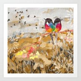 Painted Birds Art Print