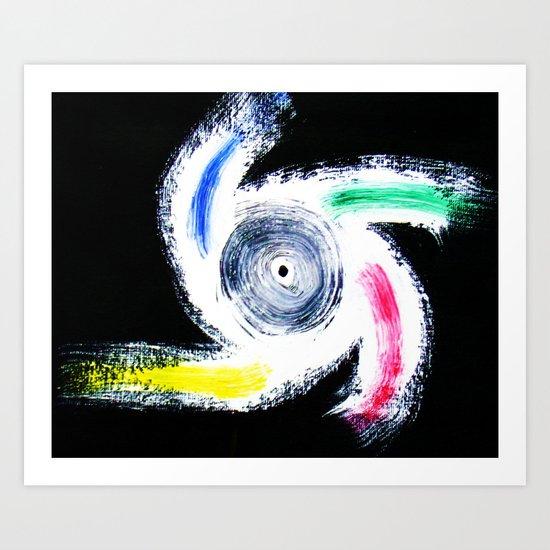 """My Idea of a Color-Wheel"" Art Print"