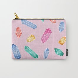 Crystals pattern - Candy pink Carry-All Pouch