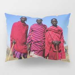 3 African Men from the Maasai Mara Pillow Sham