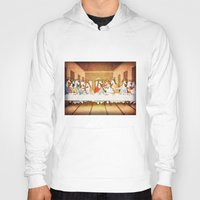 the last unicorn Hoodies featuring Last Supper Unicorn by That's So Unicorny