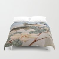 jasmine Duvet Covers featuring Jasmine And Butterflies by ALLY COXON