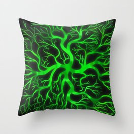 Emerald Branches Throw Pillow