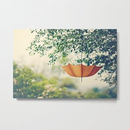 Orange Umbrella  Metal Print