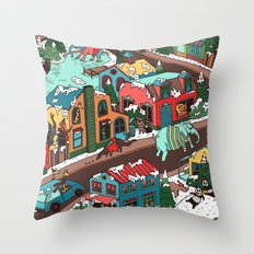 This Place is a Zoo! Throw Pillow