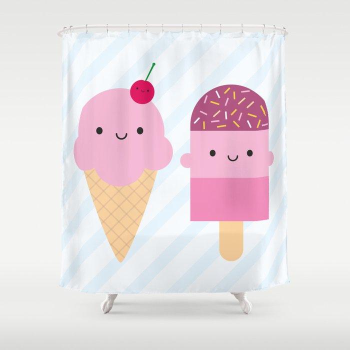 Summer Ice Cream Treats Shower Curtain