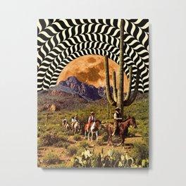 Illusionary Cowboys Metal Print