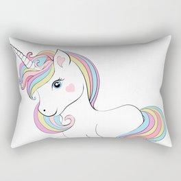 Cute unicorn.Cooler than a unicorn T-shirt  Rectangular Pillow