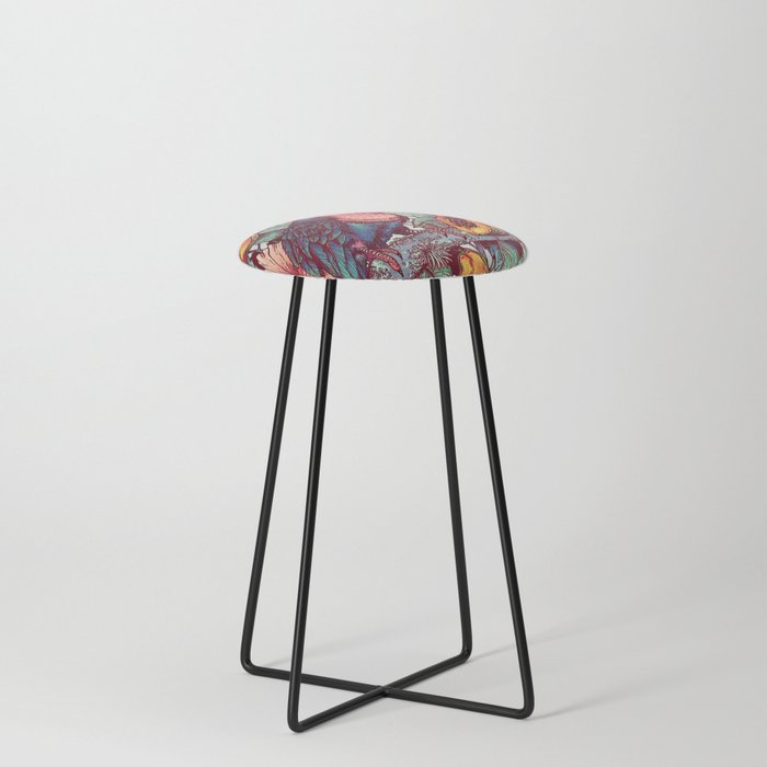 Froot Loops Counter Stool