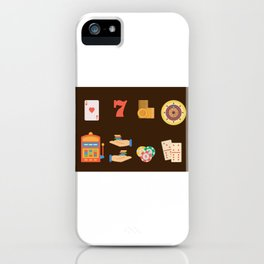Roulette, Slots, Chips & Cards - Nevada Day iPhone Case