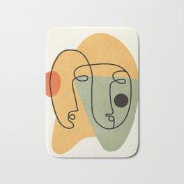 Abstract Faces 19 Bath Mat