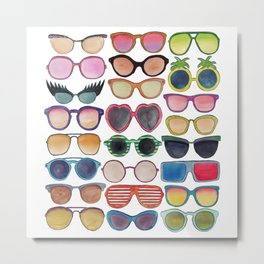 Sunglasses by Veronique de Jong Metal Print
