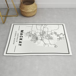 Mackay Light City Map Rug