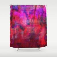 burgundy Shower Curtains featuring Burgundy by Georgiana Paraschiv